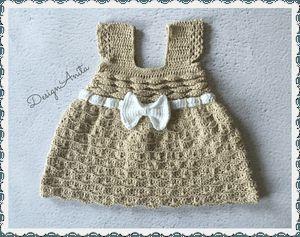 Crochet baby dress 0-2 m