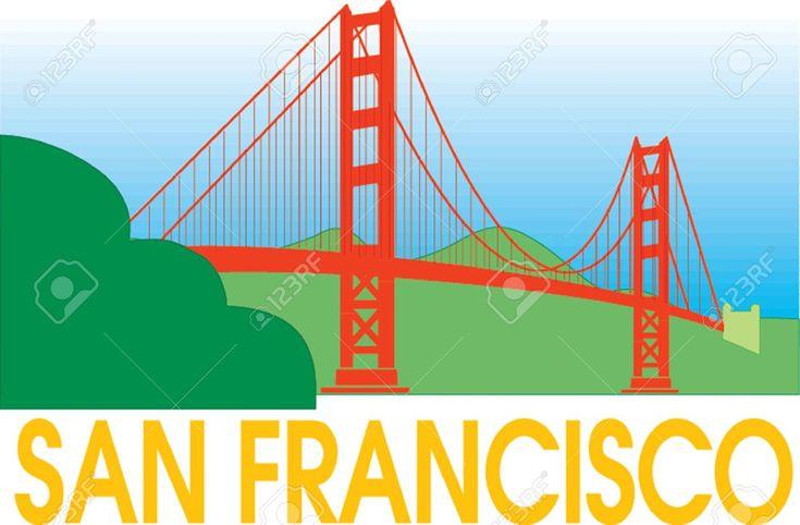San francisco golden gate bridge clipart - ClipartFest