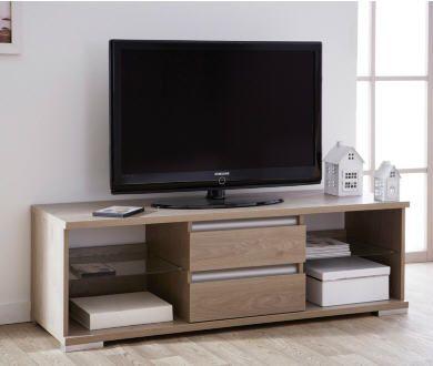Meuble TV 2 tiroirs Davis prix soldes Camif 297.00 € TTC au lieu de 330 €