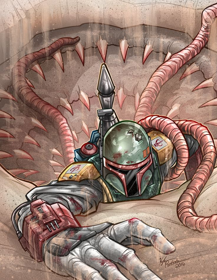 Boba Fett Escapes the Sarlacc Created by Kyle Petchock || FB