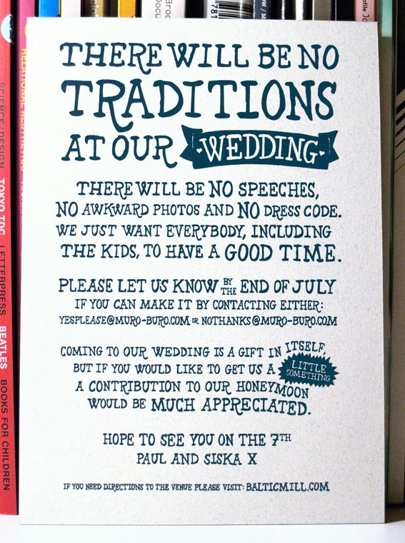 25 best ideas about funny wedding invitations on for Fun things for wedding receptions