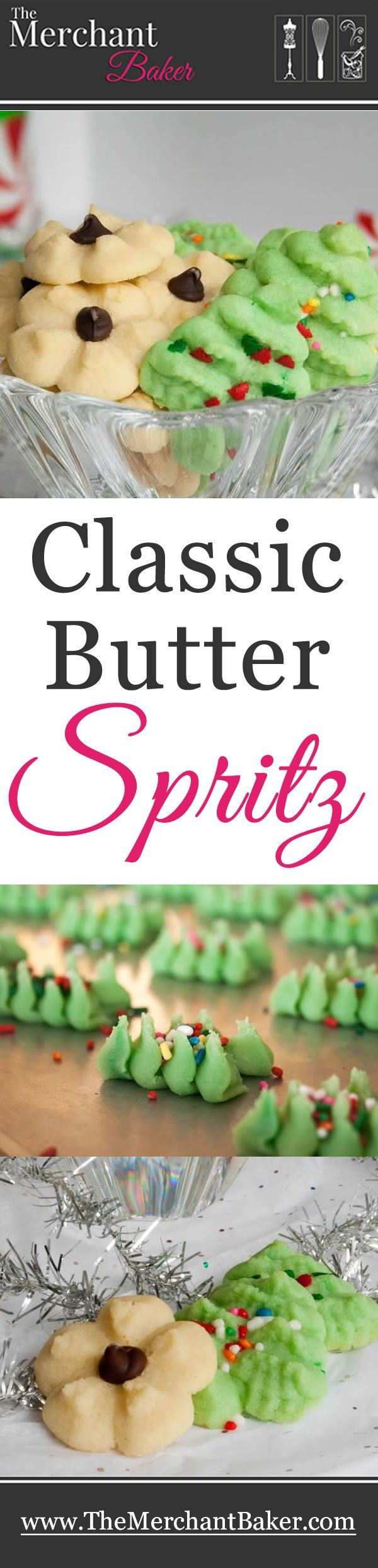 Classic Butter Spritz Cookies. My favorite recipe for a tender all butter spritz.