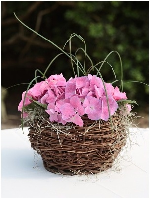 Hydrangeas and twigs - so rustic and natural