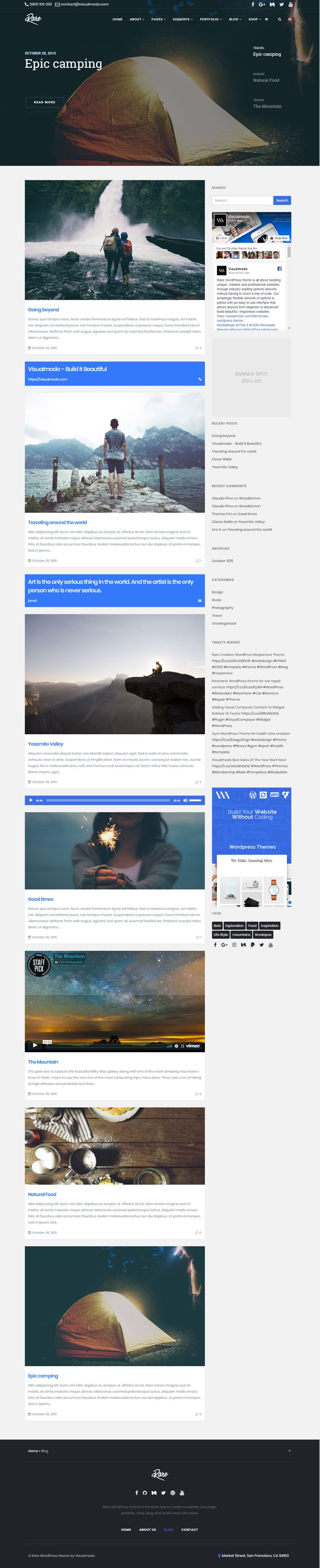 Rare WordPress theme is all about building unique, creative and professional websites through industry leading options network without having to touch a line of code. Our amazingly flexible network of options is paired with an easy to use interface that allows anyone from beginner to advanced build beautiful, responsive websites https://visualmodo.com/theme/rare-wordpress-theme/ #webdesign #HTML5 #CSS3 #template #plugins #themes #WordPress #onepage #ecommerce #responsive #retina #marketing…