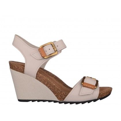 Sandale CLARKS albe, din piele naturala