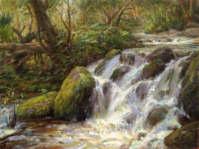 Mary Pettis   PleinAir Magazine Award ARC / Other Awards. Waterfall  PaintingsLiving WaterArt SchoolLandscape ...