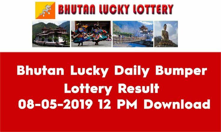 Bhutan Lucky Daily Bumper Lottery Result 08052019