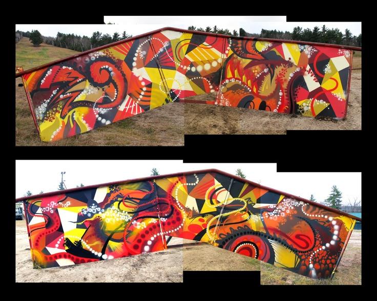 spray paint mural