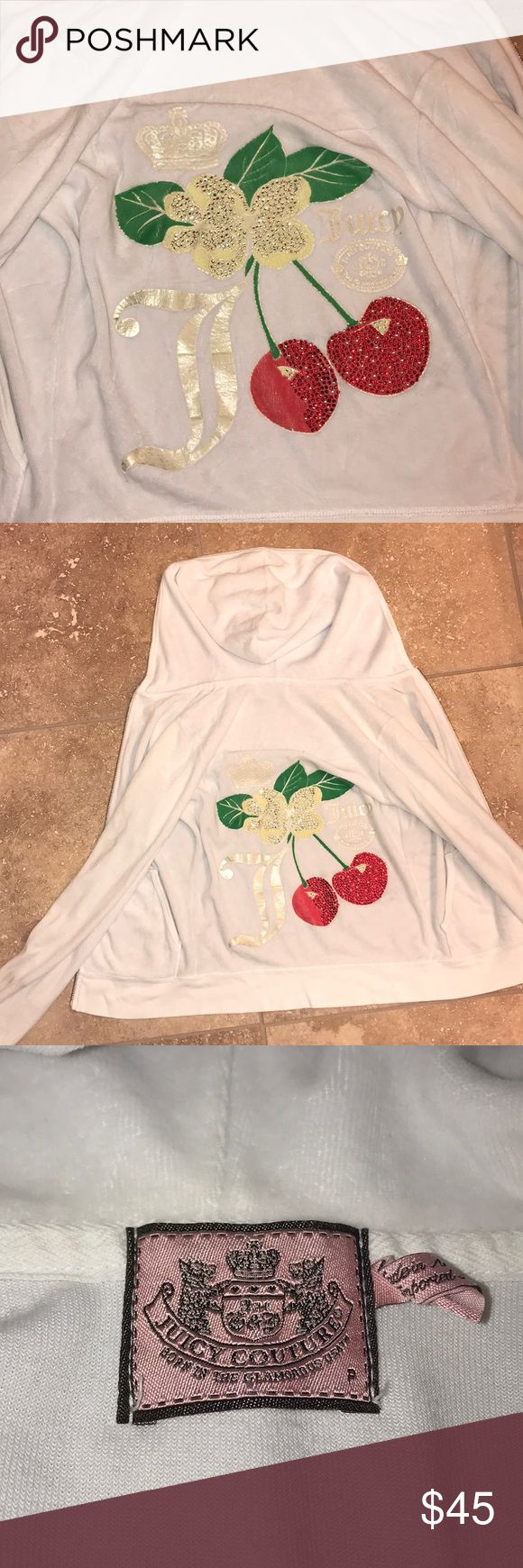 Good Condition Juicy Couture Jacket Barley Worn Very golf condition early 2000's Juicy Couture Jacket  White no stains or signs of wear or tear  Casual use for any occasion Juicy Couture Jackets & Coats