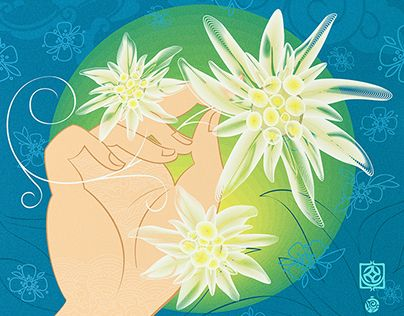 """Check out new work on my @Behance portfolio: """"Edelweiss"""" http://be.net/gallery/45883843/Edelweiss"""