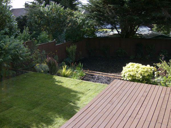 Borehamwood garden design - sloping terraced garden