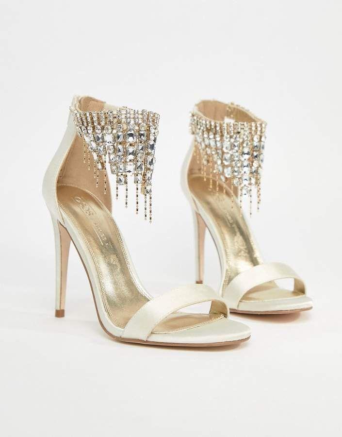 Asos Halcyon Bridal Embellished Heeled Sandals Ad Weddingshoes Weddingideas Wed Wedding Dress Shoes Heels Embellished Heeled Sandals Wedding Sandals Heels
