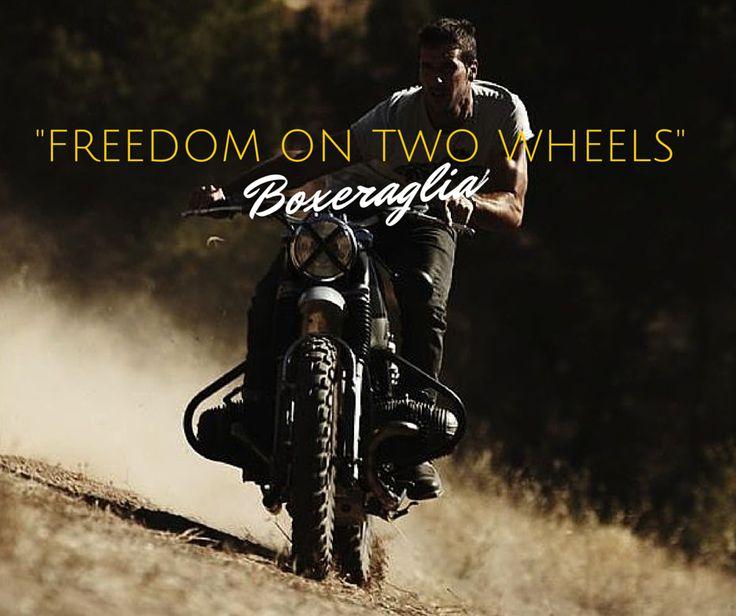 FREEDOM ON TWO WHEELS www.boxeraglia.com #moto #bmw #motorcycle #frasi #quotes