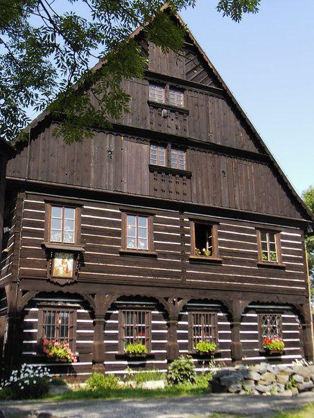 Rychta v Kravařích Vísce - Severní Čechy, Folk architecture - Czech Republic
