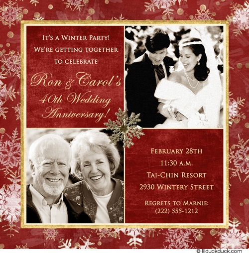 Then Now Pix On Invites Our Vow Renewal Ideas