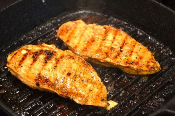 Skillet grill chicken breast