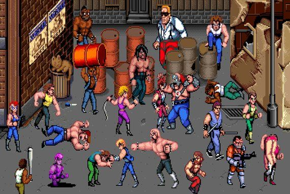 Rough Neighborhood Poster In 2020 Double Dragon Gaming Wall Art