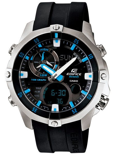 Casio Edifice Quartz Advance Marine Analog and Digital Multifunction (March 2013) Watch #  EMA-100-1AV (Men Watch)