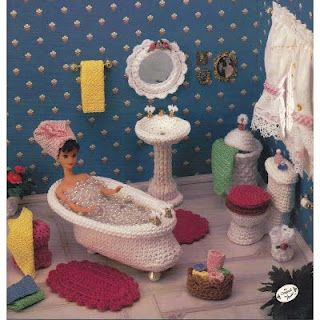 crochet barbie furniture