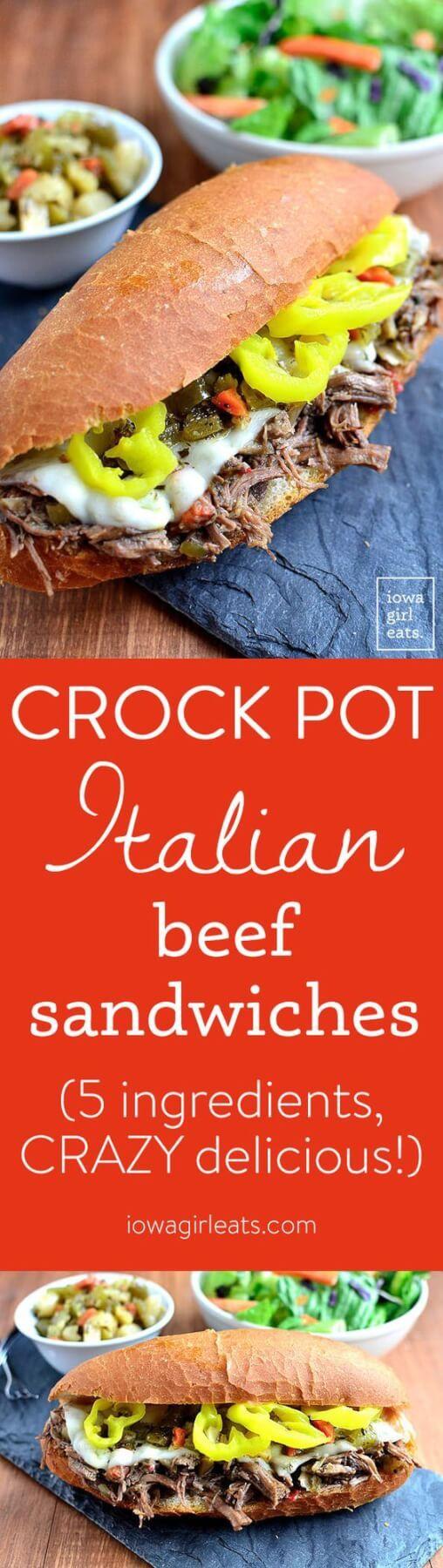 Crock Pot Italian Beef Sandwiches Recipe