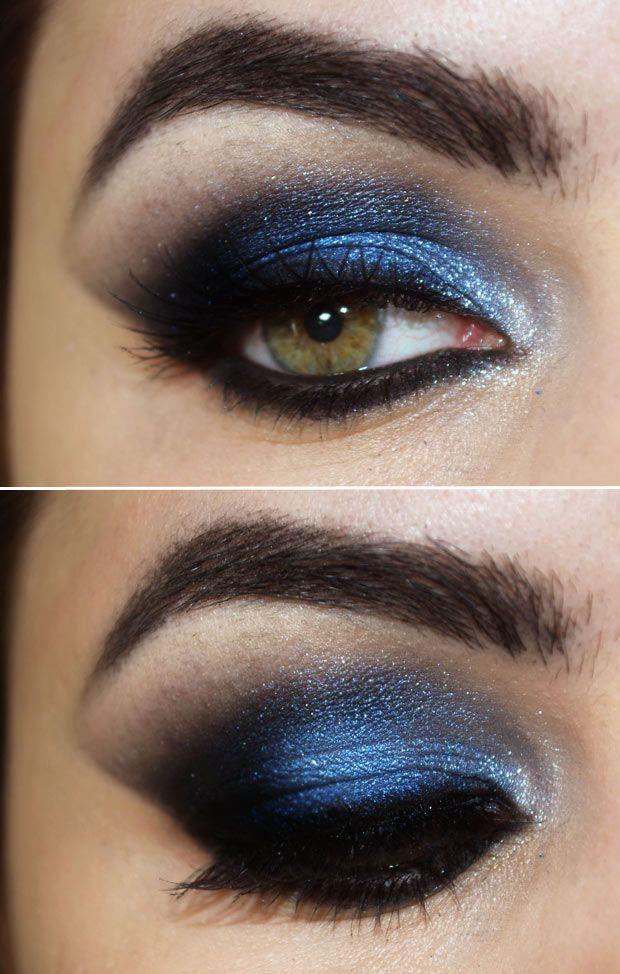 Tutorial – maquiagem azul e preta inspirada na usada por Ivete Sangalo no Rock in Rio