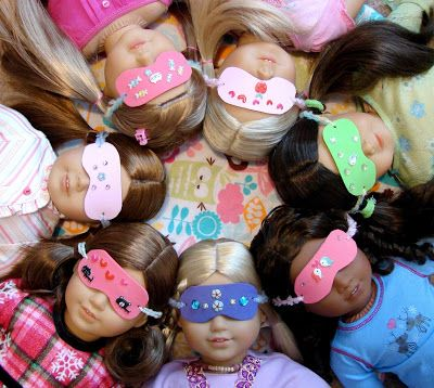 American Girl Doll Play: Tutorial : Make a Sleep Mask for Your Doll.  Craft foam, yarn or ribbon, stickers, markers
