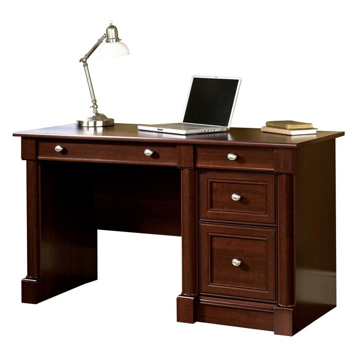 Sauder Palladia Computer Desk Select Cherry From