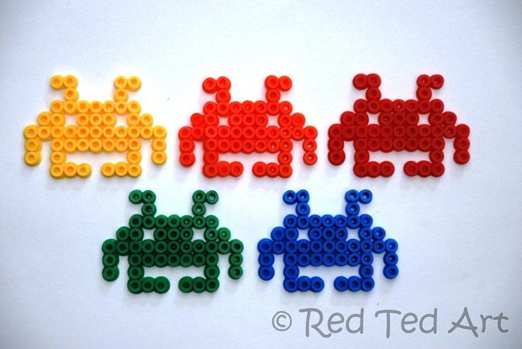 Space Invaders meet Hama Beads.