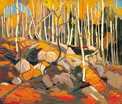 [Artist of the week] - Tom Thomson  We love the autumn colours, especially in this painting - The Birch Grove, Autumn by Canadian painter Tom Thomson about 100 years ago. He painted this in the winter of 1915 to 1916. 🍂🍁🍂