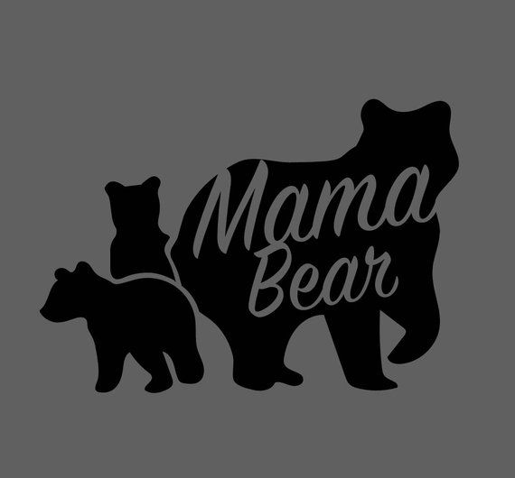 08abd8bb46657 Mama Bear with cubs .SVG file for vinyl cutting