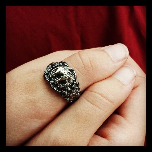 Another view of the elephant ring.  https://www.facebook.com/Sabinejewellery