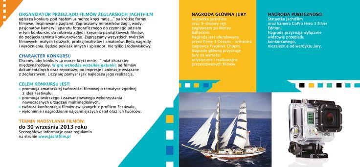 JachtFilm Festiwal 2013 /competition leaflet