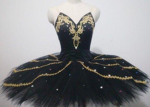 professionelle benutzerdefinierte Erwachsener schwarze schwan wunderschöne schwarze schwarzer vogel ballett tutu kleid(China (Mainland))