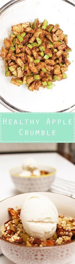 Healthy Apple Crumble.