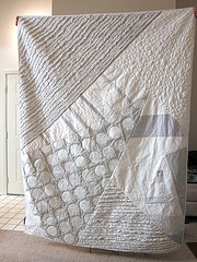 Modern Quilt.. for people who can't quilt the tiny accurate little squares :)