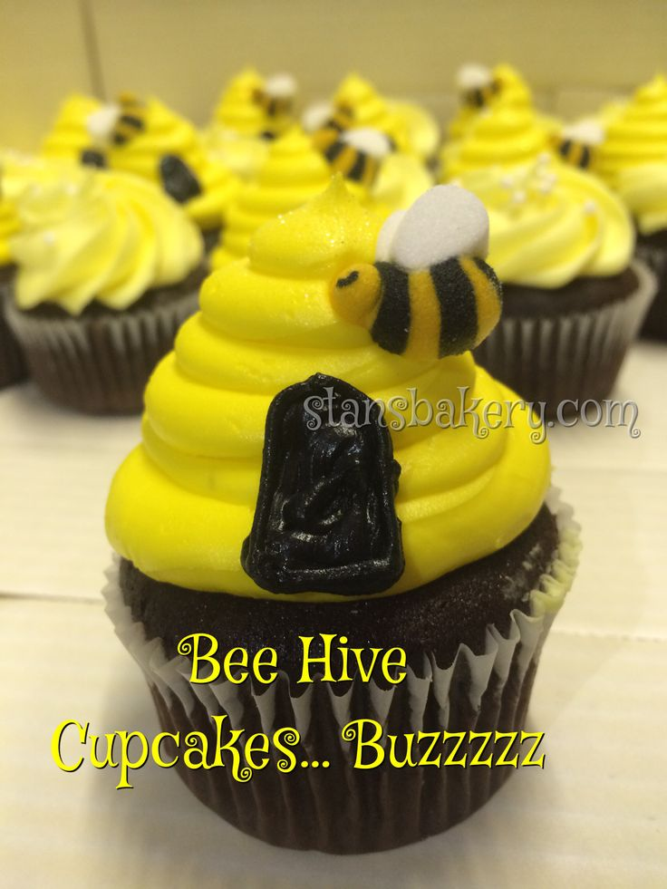 Bee Hive Cupcakes For A Bumble Baby Shower