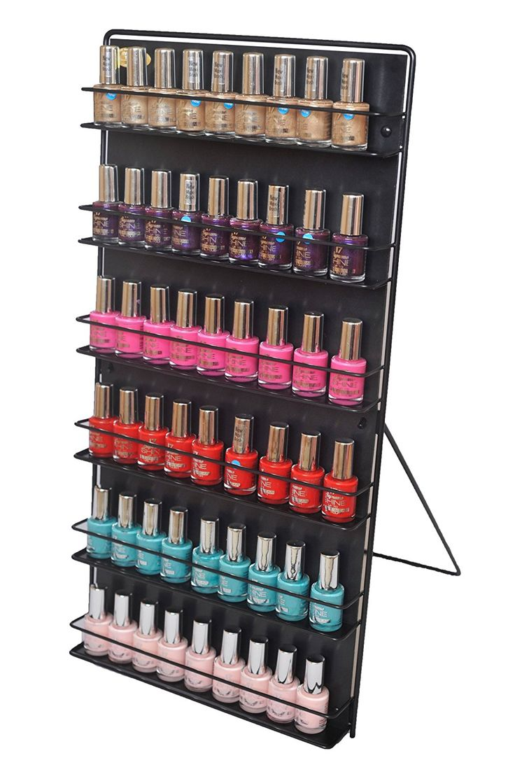 Nail Polish Rack 6 Tier Black (Free Standing or Wall Mount)Expedited shipping now subsidised on all orders. Our Customers Have Asked Us for Faster Delivery so We've Teamed up with Fed-ex. Your Order Will Arrive Within 24-48 Hours of Dispatch. The Well Established USA Based Delivery Company) * Be sure to check out this awesome product.