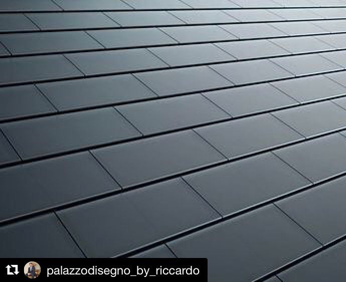 #techpost: Tesla solar tiles. #innvoation & #efficiency. Tesla solar roof tiles are three times more resistant that traditional tiles more durable and efficient than traditional solar panels. This solution in is the best in terms of efficiency and aesthetic. #palazzodisegno #tesla #roof #efficiency #aesthetic #design #architecture #luxury #askmehow