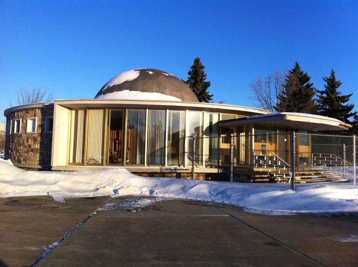 Queen Elizabeth Planetarium. Coronation park, next to the Telus world of Science. Closed in 1983, still stands empty today. Image Courtesy of Vintage Edmonton https://www.facebook.com/TheVintageEdmonton