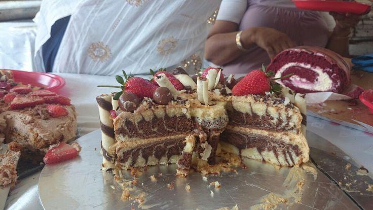 Inside of zebra cake