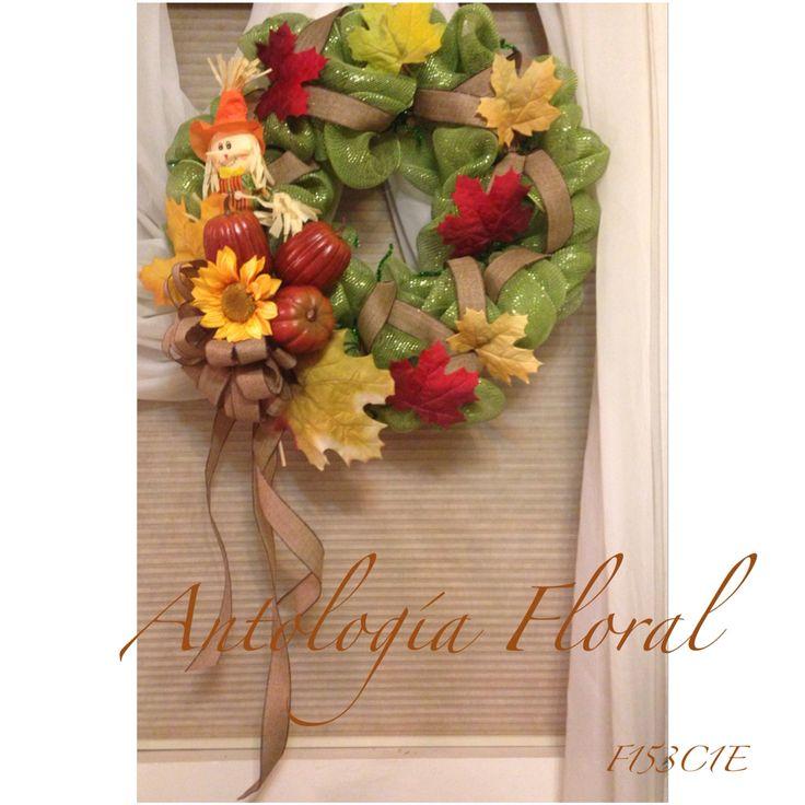 Decoraci n para puerta oto o dise os con flor for Decoracion puerta otono