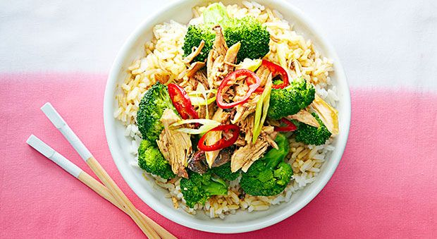 This healthier take on a Chinese favorite is almost as easy as picking up takeout. Even better? It's done in a slow-cooker, so it's super hands off. Recipe: Slow Cooker Sesame-Garlic Chicken Related: Rustic Roasted Chicken Dinners   - Delish.com