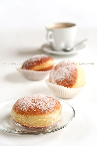 Krapfen (doughnuts) with fillings from vanilla, over egg-nog and champagne cream to unlikely fillings like mustard. Munich