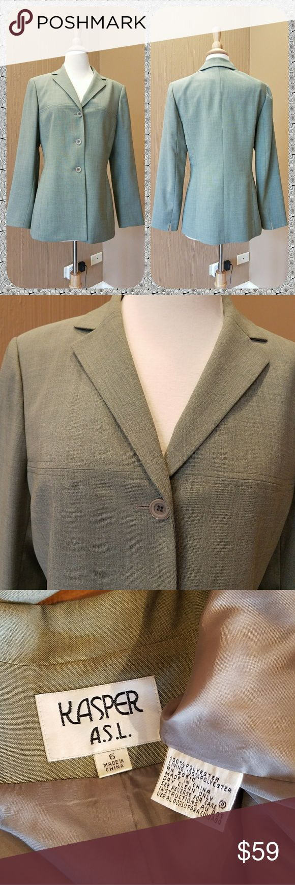 🏡MOVING SALE🏡 suit PRICED TO SELL!  A beautiful sage green suit separates.  Both pieces are fully lined. The jacket is size 6, trousers are size 8. Trousers have a stretching  waist band. Feel free to ask questions. Jackets & Coats