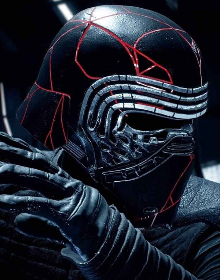 Kylo Ren With Cracked Mask Fan Art For Star Wars The Rise Of Skywalker Star Wars Fan Art Star Wars Wallpaper Star Wars Art