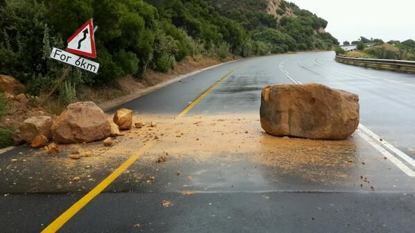 Cape November Storm | BevSchafer @Beverly LeFevre Schafer Large boulders still blocking  Victoria Rd.