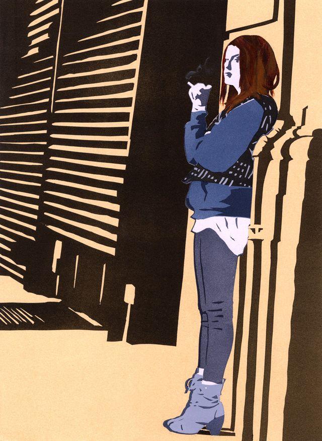 Smokin' illustration by Amy DeVoogd