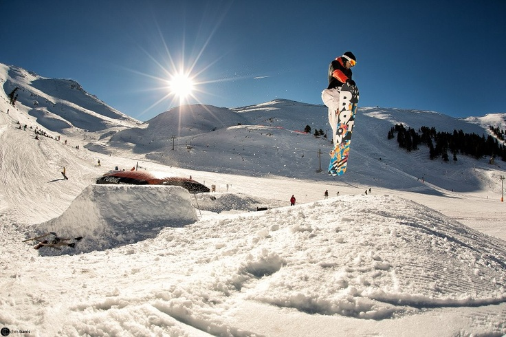 Snowboarding at the#Kalavrita ski resort, situated on the North West side of Helmos mountain, near#Patra