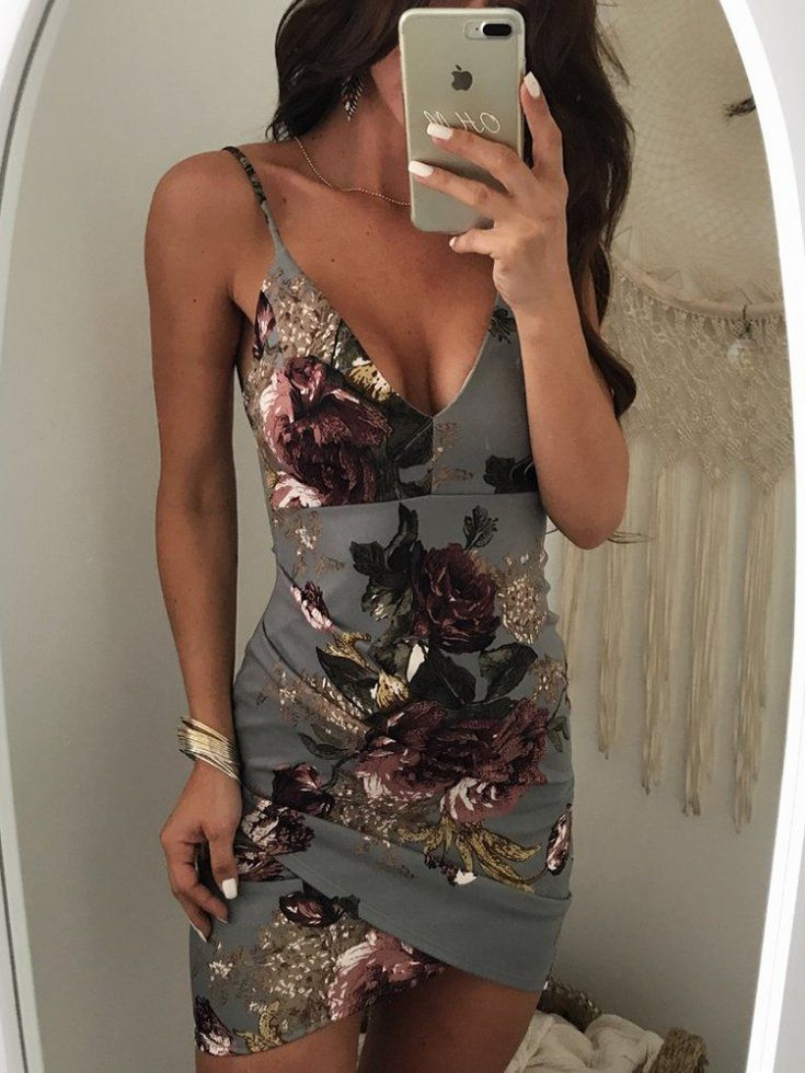 a rose printed dress to wear on a date