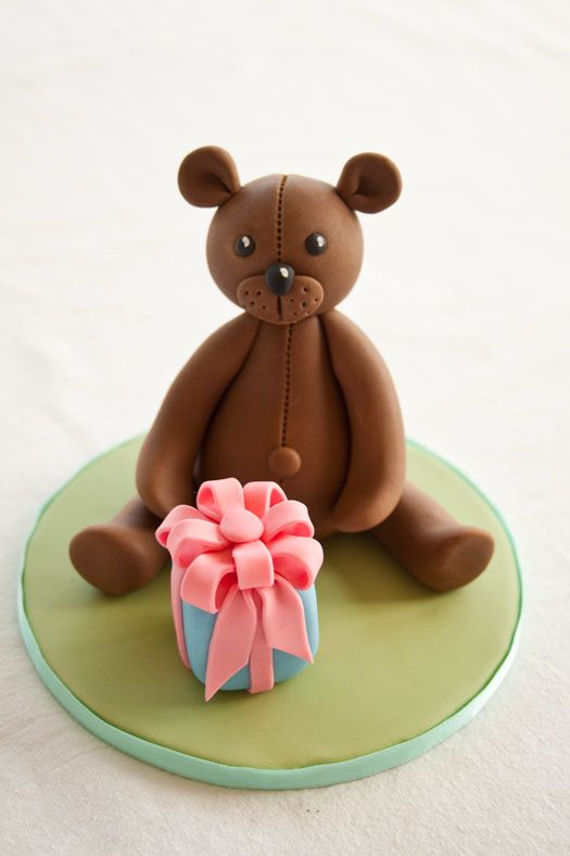 Teddy bear topper/decoration- Can also be made out of marzipan
